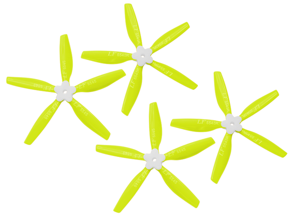 5545 5 Blades Folding Propeller (2CW+2CCW) (Yellow)