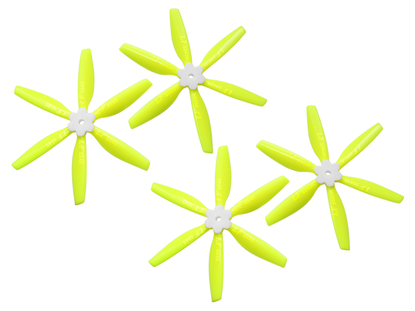5545 6 Blades Folding Propeller (2CW+2CCW) (Yellow)