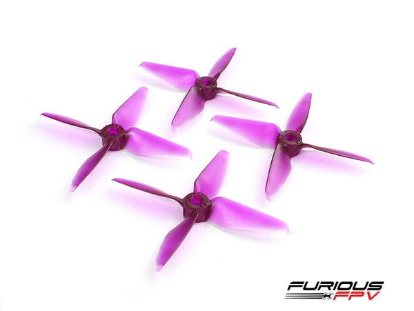RageProp 3054-4 Race Edition Propeller (2CW - 2CCW) - Purple