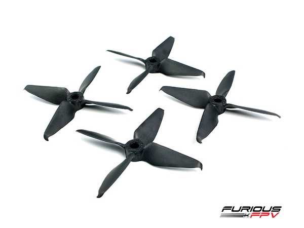 RageProp 3054-4 Race Edition Propeller (2CW - 2CCW) - Black Matte