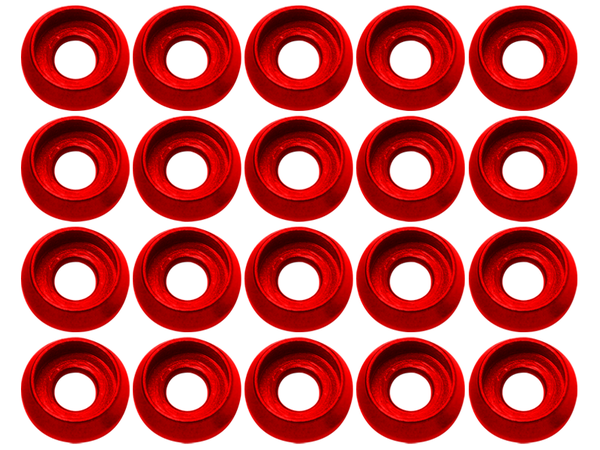M3 C Washer (20pcs) (Red)