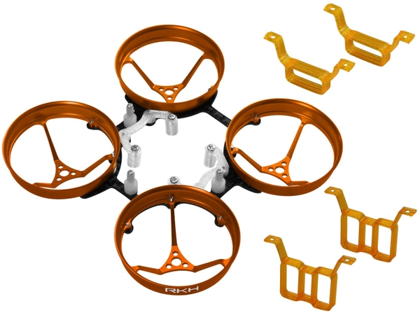Rakonheli 1S, 2S AL Carbon 66mm Brushless Whoop Kit (for 0603, 0703 Motor) (Orange)
