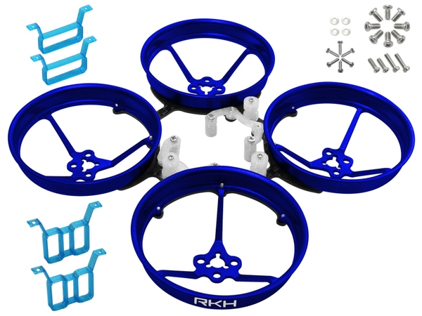Rakonheli 1S, 2S AL Carbon 76mm Brushless Whoop Kit (for 0603, 0703, 1103 Motor) (Blue)