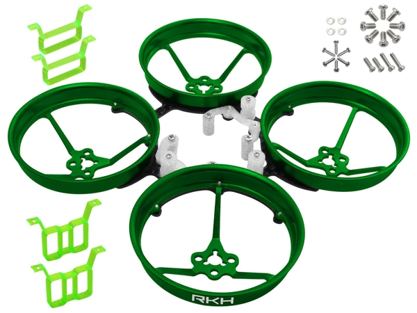 Rakonheli 1S, 2S AL Carbon 76mm Brushless Whoop Kit (for 0603, 0703, 1103 Motor) (Green)