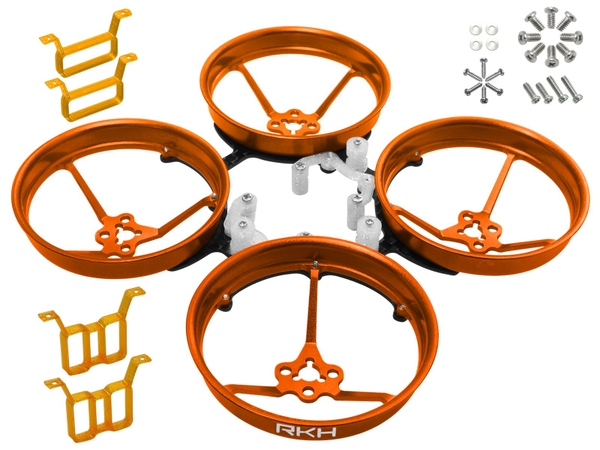 Rakonheli 1S, 2S AL Carbon 76mm Brushless Whoop Kit (for 0603, 0703, 1103 Motor) (Orange)