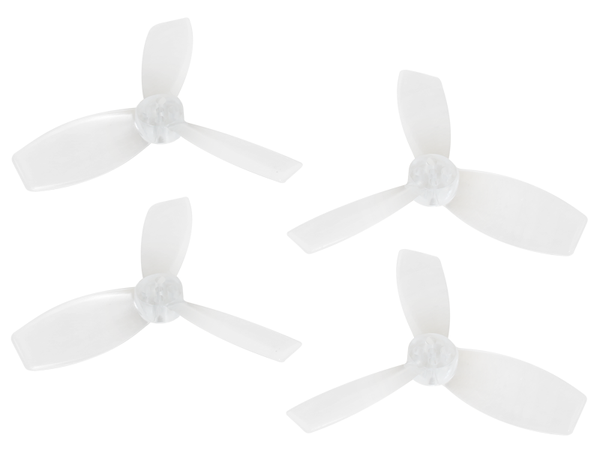 Rakonheli 2222 3 Blade Transparent Propeller (2CW+2CCW; 1.5mm Shaft) (White) - Blade Torrent 110 FPV