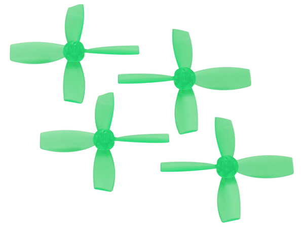 Rakonheli 2222 4 Blade Transparent Propeller (2CW+2CCW; 1.5mm Shaft) (Green)