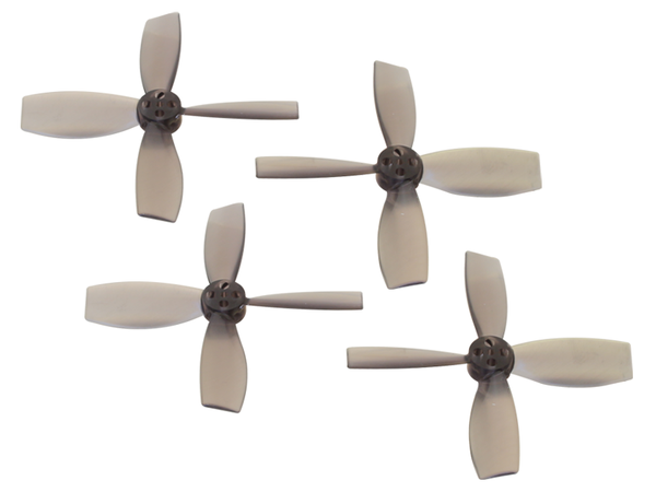 Rakonheli 2222 4 Blade Transparent Propeller (2CW+2CCW; 1.5mm Shaft) (Black)