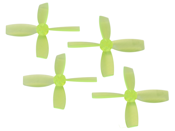 Rakonheli 2222 4 Blade Transparent Propeller (2CW+2CCW; 1.5mm Shaft) (Yellow)