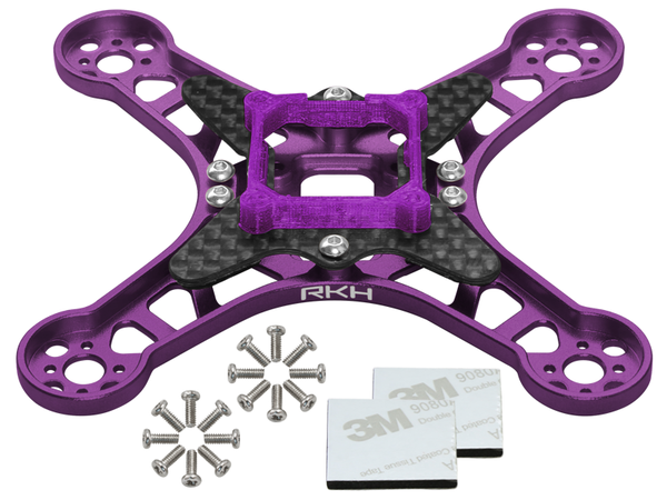 Rakonheli CNC Aluminum Carbon Main Frame Set (Purple) - EMAX Babyhawk 85mm