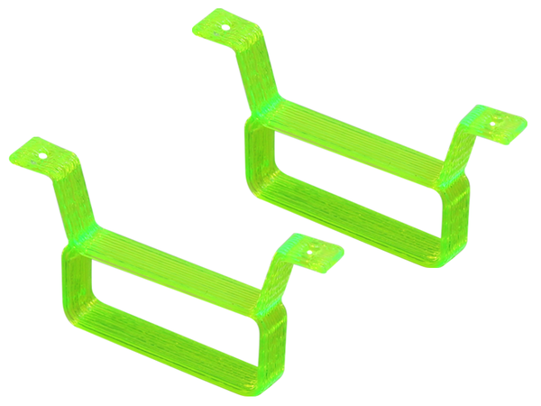 Rakonheli TPU 17x6.5mm Battery Mount (2) (Green)