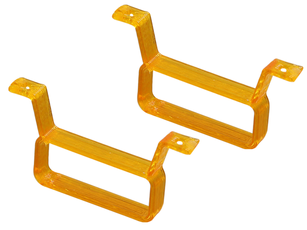 Rakonheli TPU 17x6.5mm Battery Mount (2) (Orange)