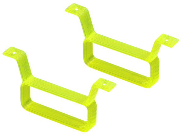 Rakonheli TPU 17x6.5mm Battery Mount (2) (Yellow)