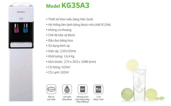Cây nước nóng lạnh Kangaroo KG35A3 Điện gia dụng Tuấn Hương