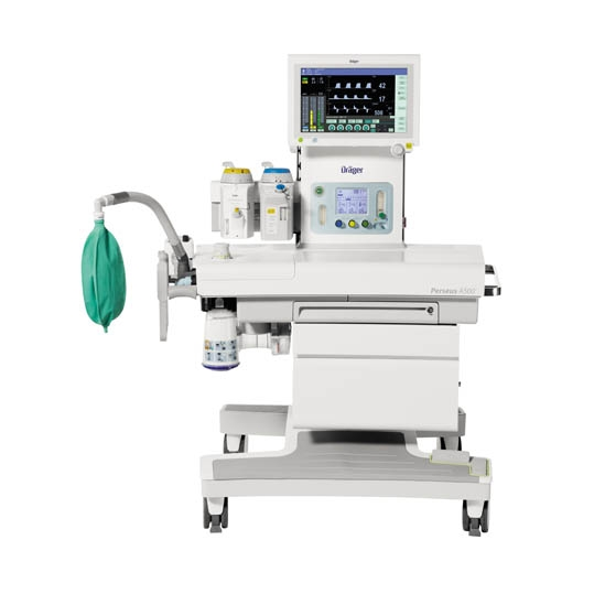The anesthesia using turbine Perseus A500
