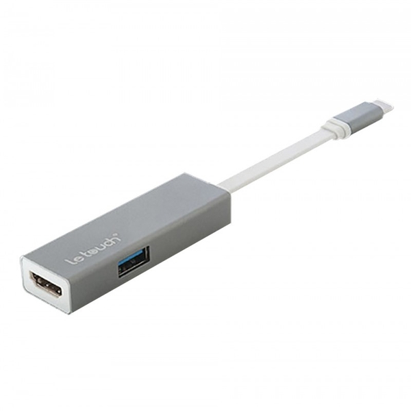 LE TOUCH USB 3.0 TYPE-C HDMI HUB - GREY - Macbook
