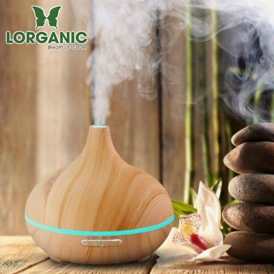 Máy khuếch tán tinh dầu giọt nước lớn gỗ vàng Lorganic FX2022