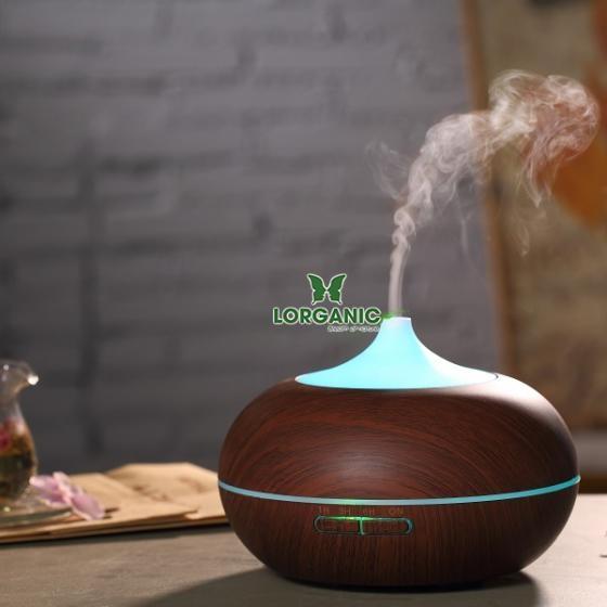 Máy khuếch tán tinh dầu bí ngô gỗ nâu Lorganic FX2027