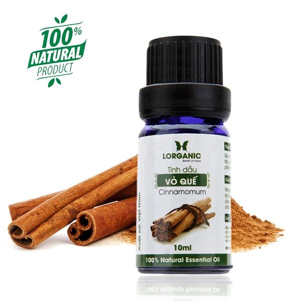 Tinh Dầu Vỏ Quế Nguyên Chất Lorganic 10ml (Cinnamomum)