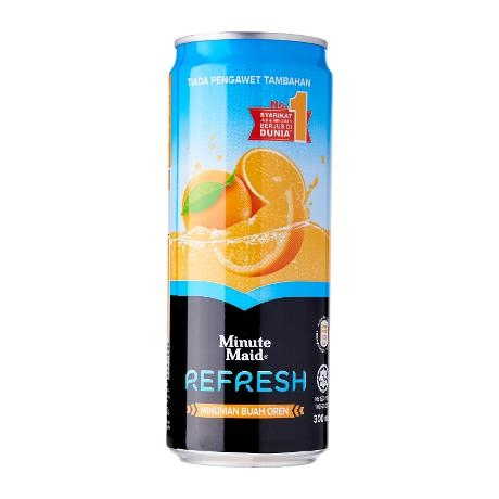 Minute Maid Refresh Orange Juice Drink Sleek 330ml