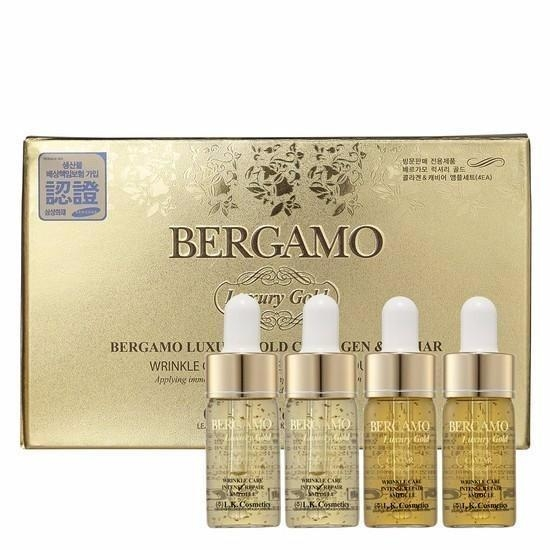 Serum Bergamo Luxury Gold Collagen & Caviar 13ml x4 chai