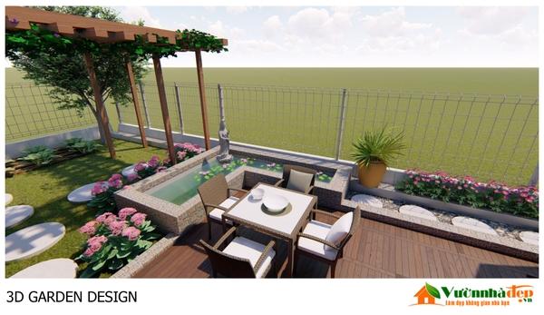 Phối cảnh sân vườn 3D