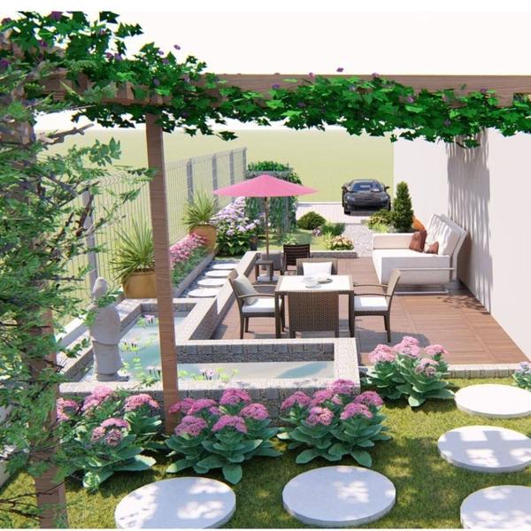 Phương án thiết kế sân vườn