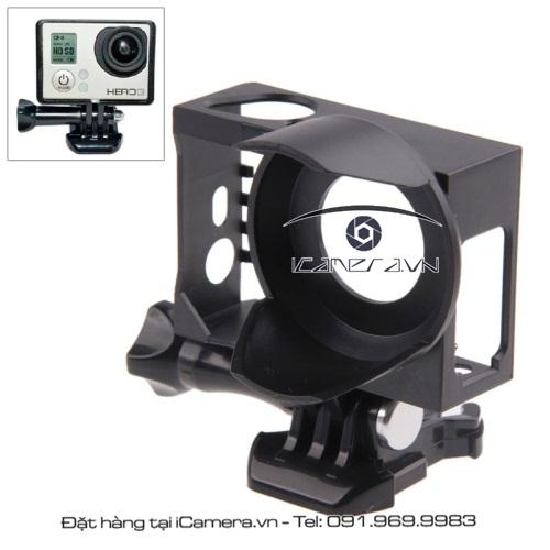 Khung bảo vệ GoPro Hero có loa che nắng Protective Frame with Lens Hood