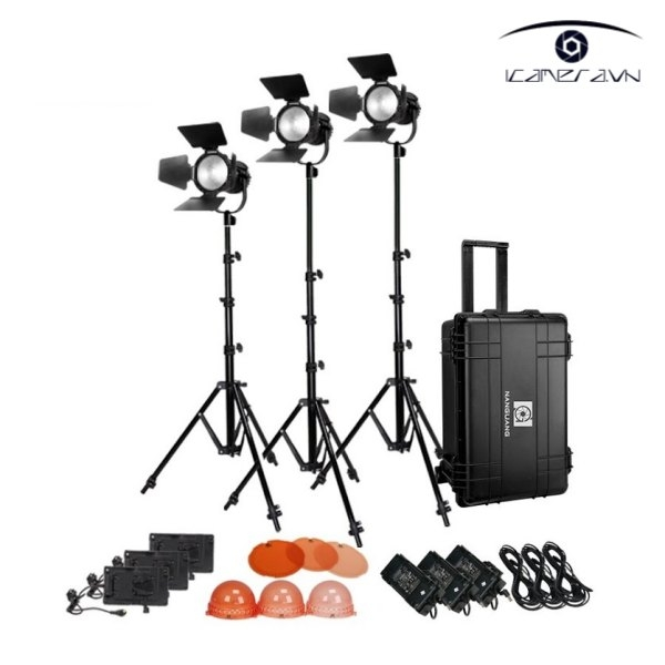 Bộ đèn Nanlite LED CN-30F 3KIT trolly case - FNA11