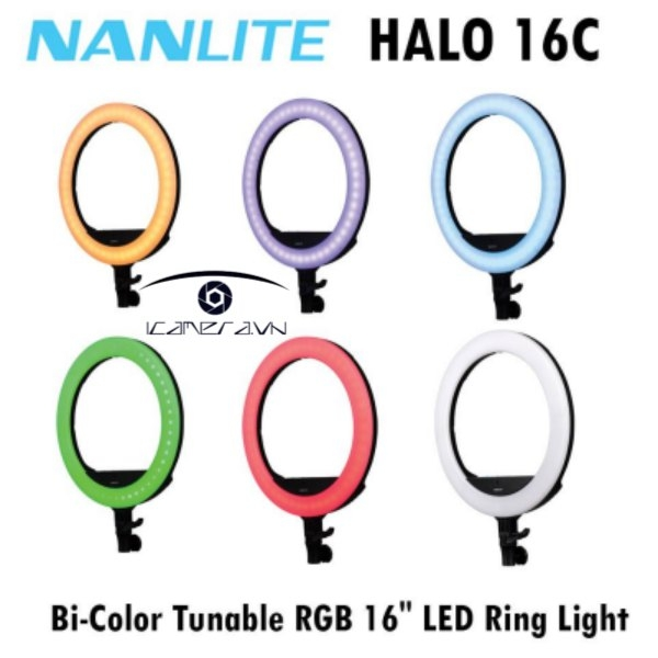 Đèn LED tròn Ring Light NanLite Halo 16C RGB – FN841