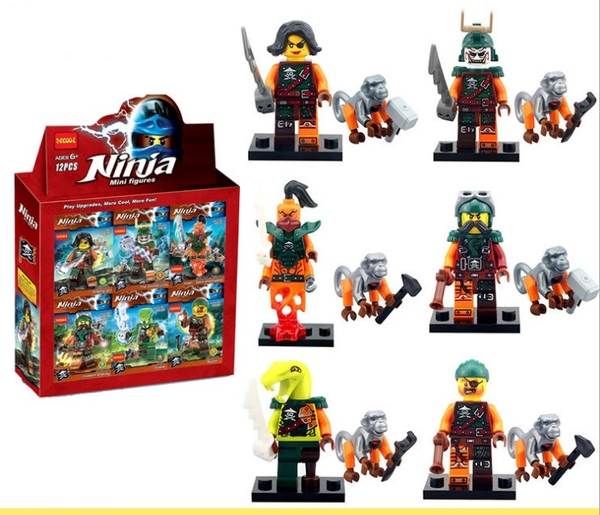 Combo 6 Mẫu Mini Ninja Siêu Hot DECOOL 10035-40