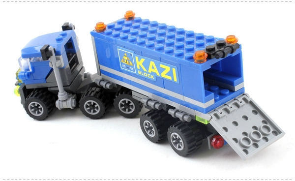 LEGO KAZI - Lắp Ráp Xe Container 163 Chi Tiết!