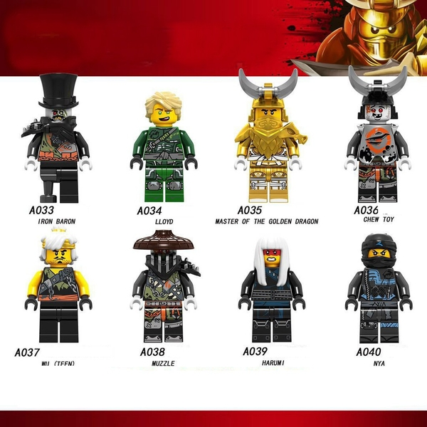 Minifigures Ninjago Các Nhân Vật Master Of The Golden Dragon Lele A033 A034 A035