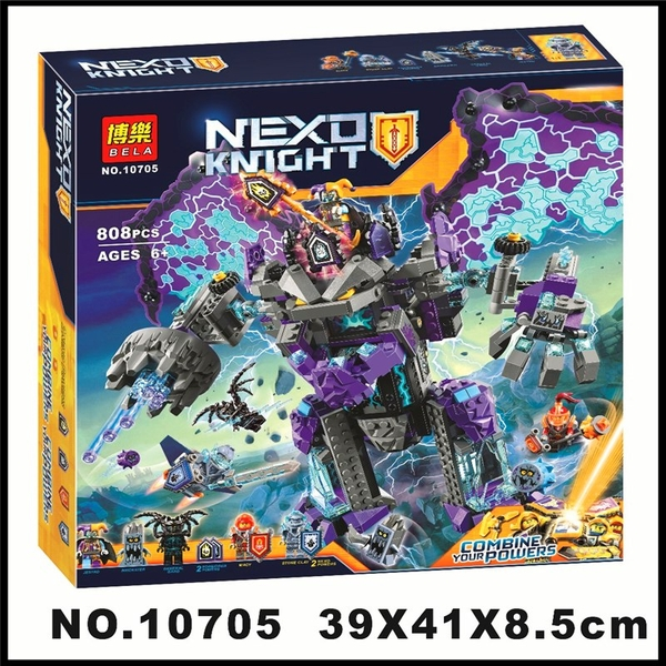 Nexo Knights Bela 10705 The Stone Colossus of Ultimate Destruction - Bộ Lắp Ráp Dơi Quỷ Khổng Lồ