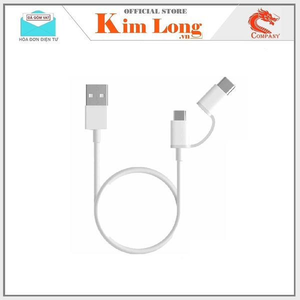 Cáp sạc Xiaomi 2-In-1  Micro Usb to Type C ( 100CM )