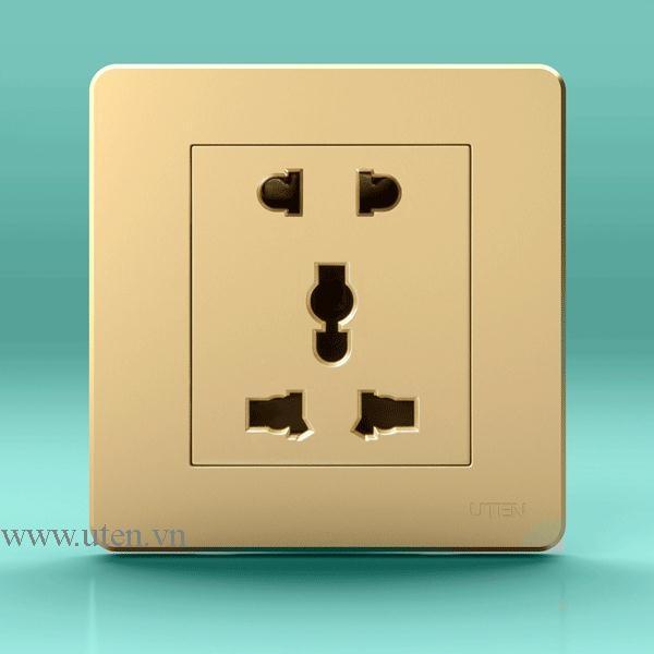 Ổ cắm điện loại 2 chấu + 3 chấu uten q7