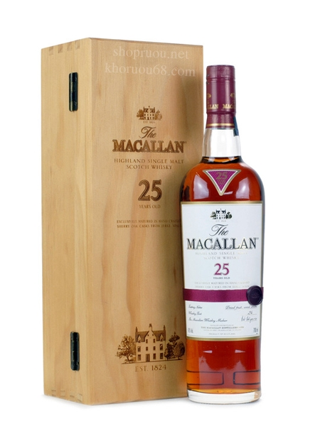 Rượu Macallan 25 years old