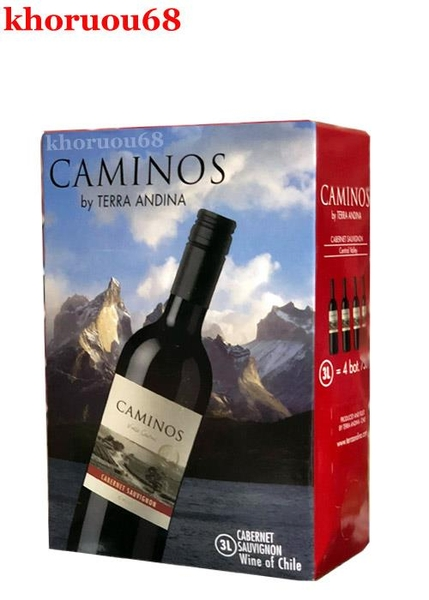 Bịch Caminos - 3L (Vang Chile - 13,5%vol)