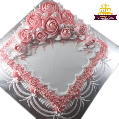 bánh vuông màu hồng