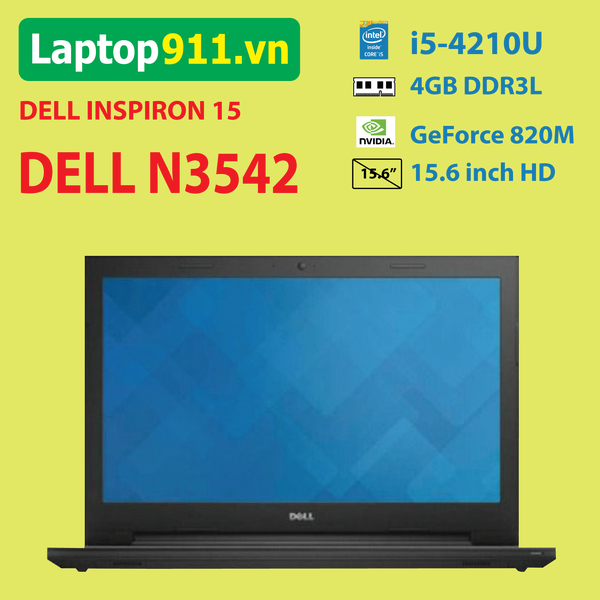 Laptop Dell inspiron 3542