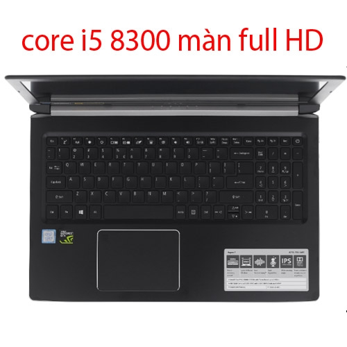 laptop cũ Acer A715 i5 8300h 8gb 128gb 1tb hdd vga gtx1050 full hd 15.6 inch