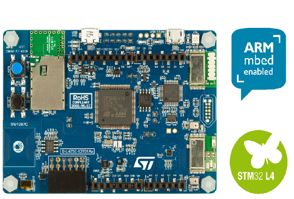 B-L475E-IOT01A STM32L4 Discovery kit IoT node, low-power wireless, BLE, NFC, SubGHz, Wi-Fi