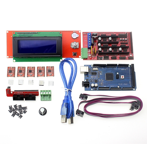 3D Printer Kit Mega 2560 R3 + 1Pcs RAMPS 1.4 Controller + 5P