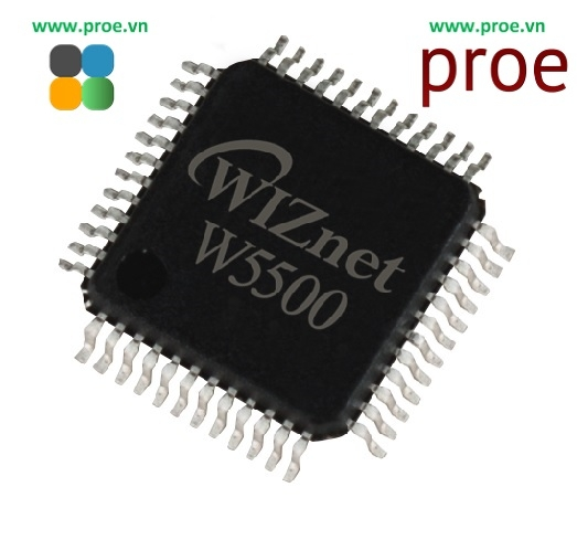 W5500 Hardwired TCP IP embedded Ethernet controller