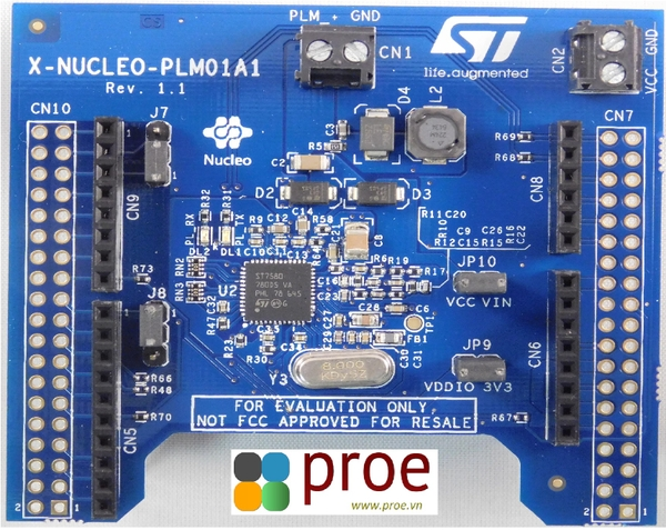 X-NUCLEO-PLM01A1 Power line communication expansion board based on ST7580 for STM32 Nucleo