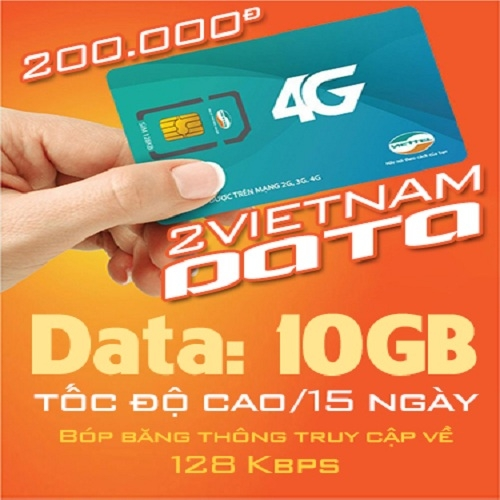 Vietnam Sim: Hi Data 10Gb
