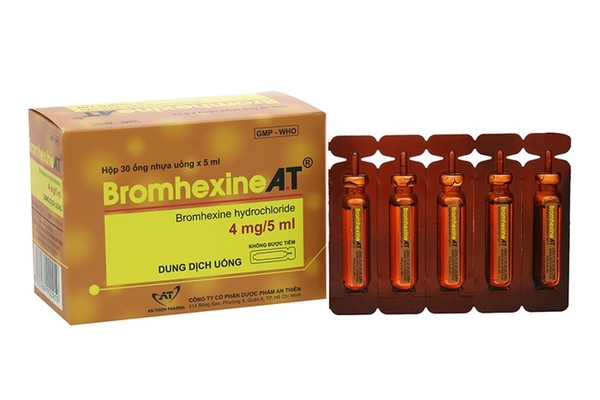 bromhexine a.t hộp 30 ống x5ml