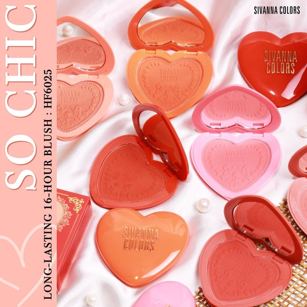 SIVANNA COLORS - Má Hồng So Chic Long Lasting 16 Hour Blush BeeTee Beauty