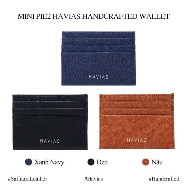 mẫu ví da thật mini card HAVIAS Pie2