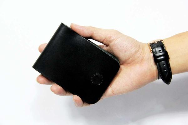 Bóp ví da thật nam nữ HAVIAS Ví Da Gerbera Handcrafted Mini Wallet Đen